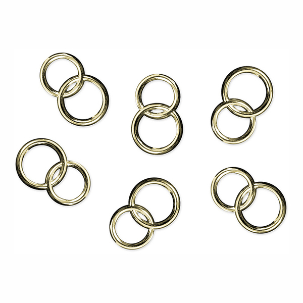Konfetti Dubbla Ringar Guld - 25-pack