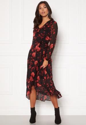 Happy Holly Rianna dress Black / Patterned 36
