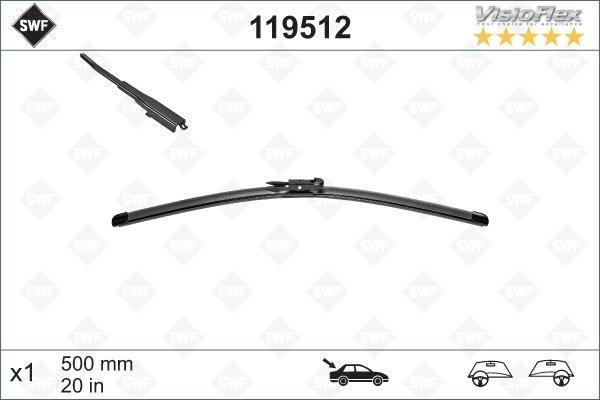 Flatblade 500mm för bakruta