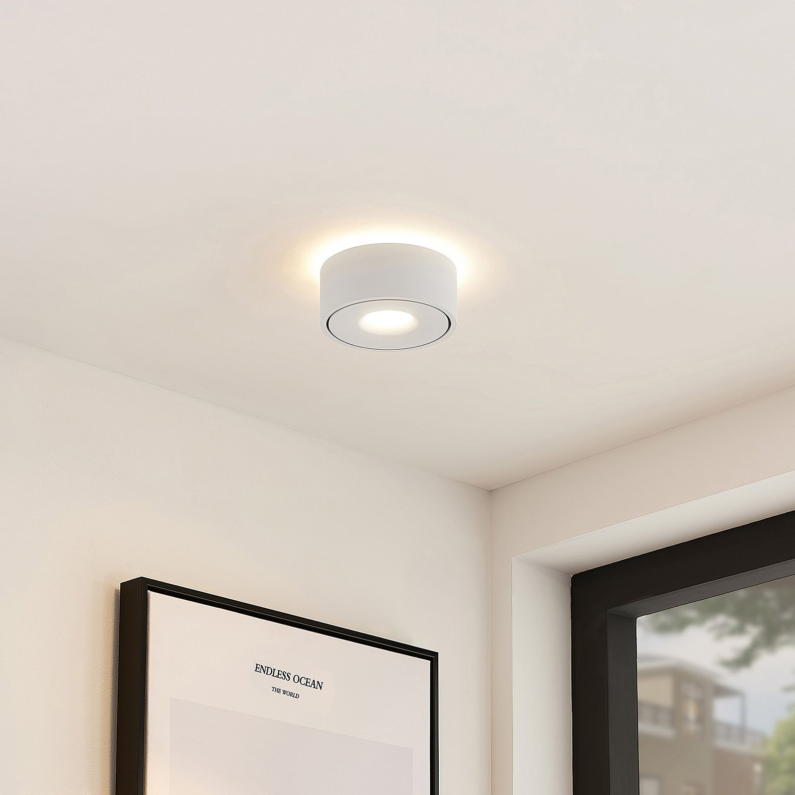 Arcchio Ranka LED-taklampe, direkte og indirekte