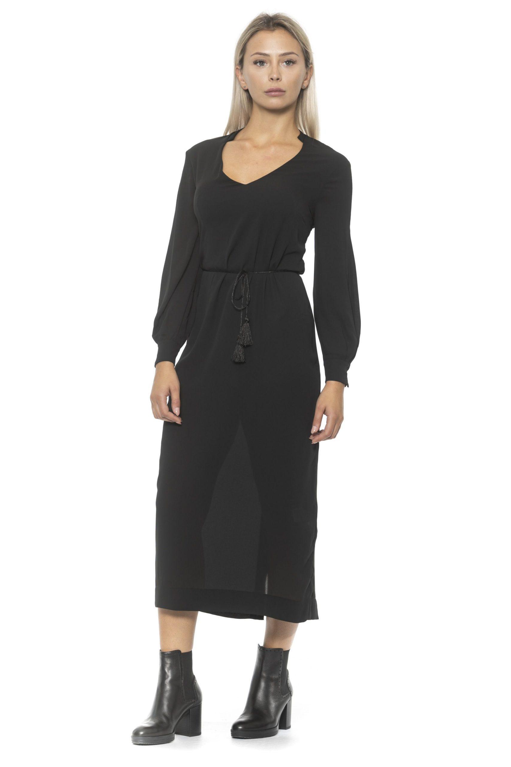 Alpha Studio Women's Nero Dress Black AL1314620 - IT40 | XS