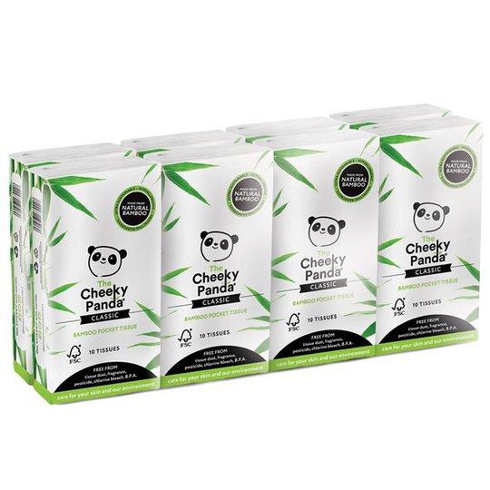 The Cheeky Panda Bamboo Pocket Tissue, 8-pack