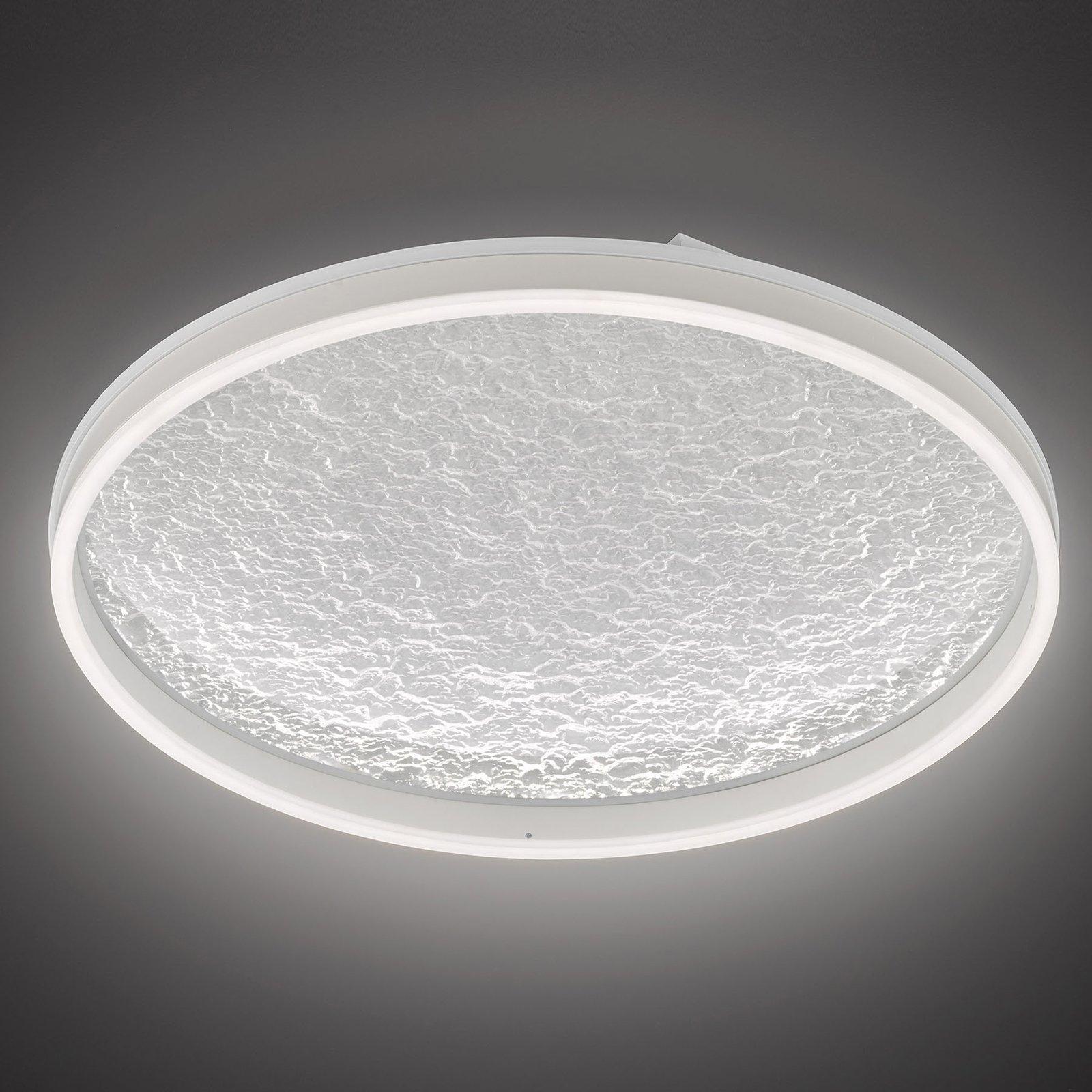 LED-taklampe Bali, dimbar, hvit, 60 cm