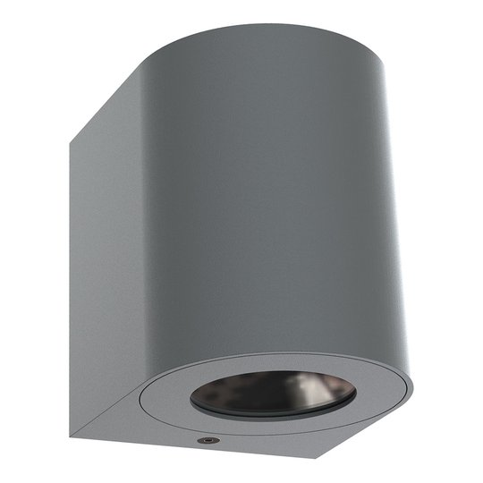 LED-ulkoseinävalaisin Canto 2, 10 cm, harmaa