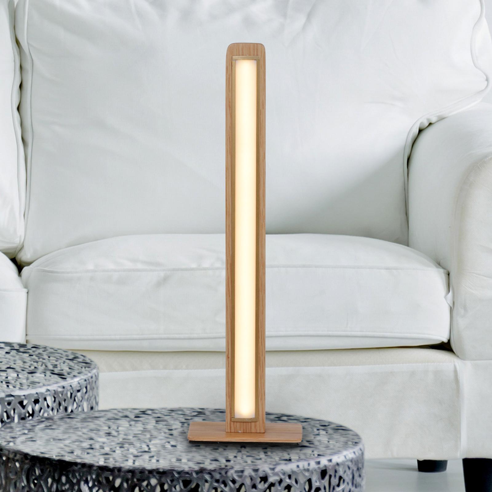 LED-pöytävalaisin Rovere kanadaista tammea