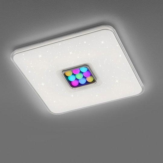 LED-taklampe Ogasaki, RGBW, fjernkontroll, Ø 52 cm