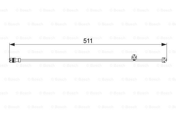 Jarrupalan kulumisen ilmaisin BOSCH 1 987 474 557