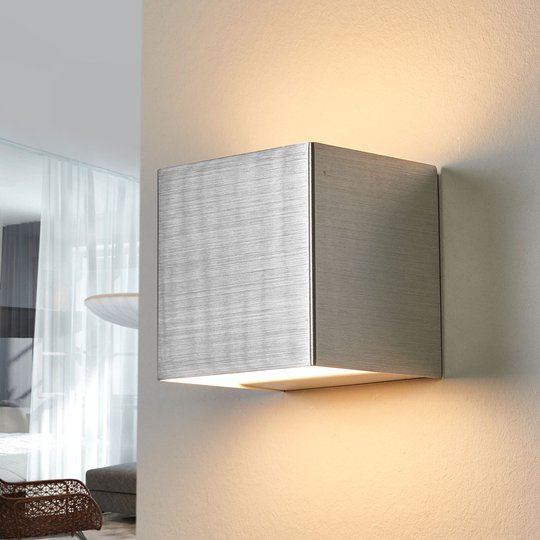 LED-seinälamppu Kimberly, 9x9cm, alumiini