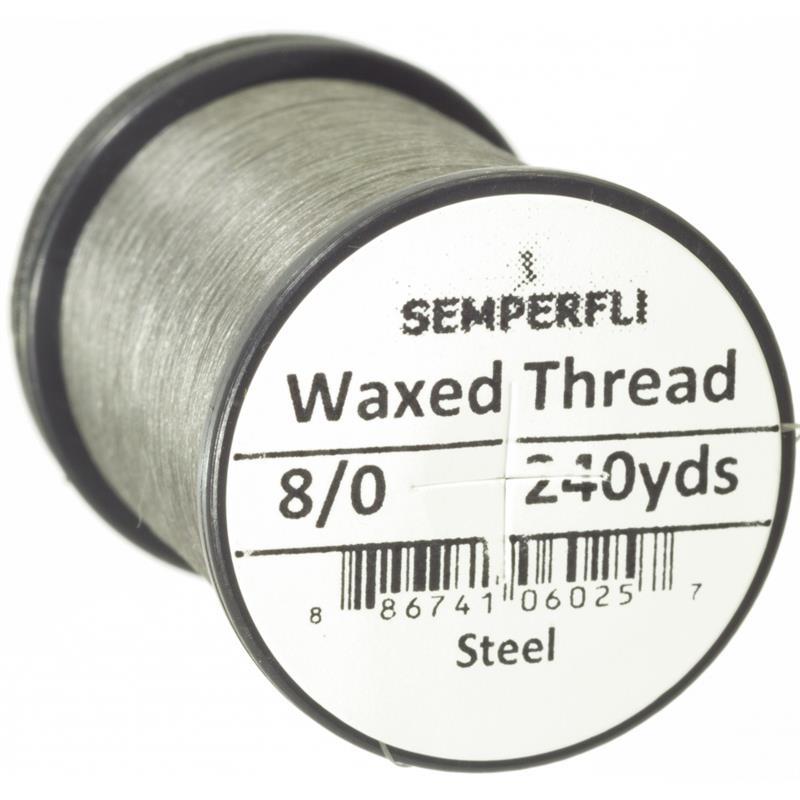 Semperfli Classic Waxed Thread Steel 8/0