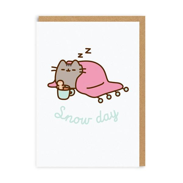 Pusheen Snow Day Snuggle Christmas Card