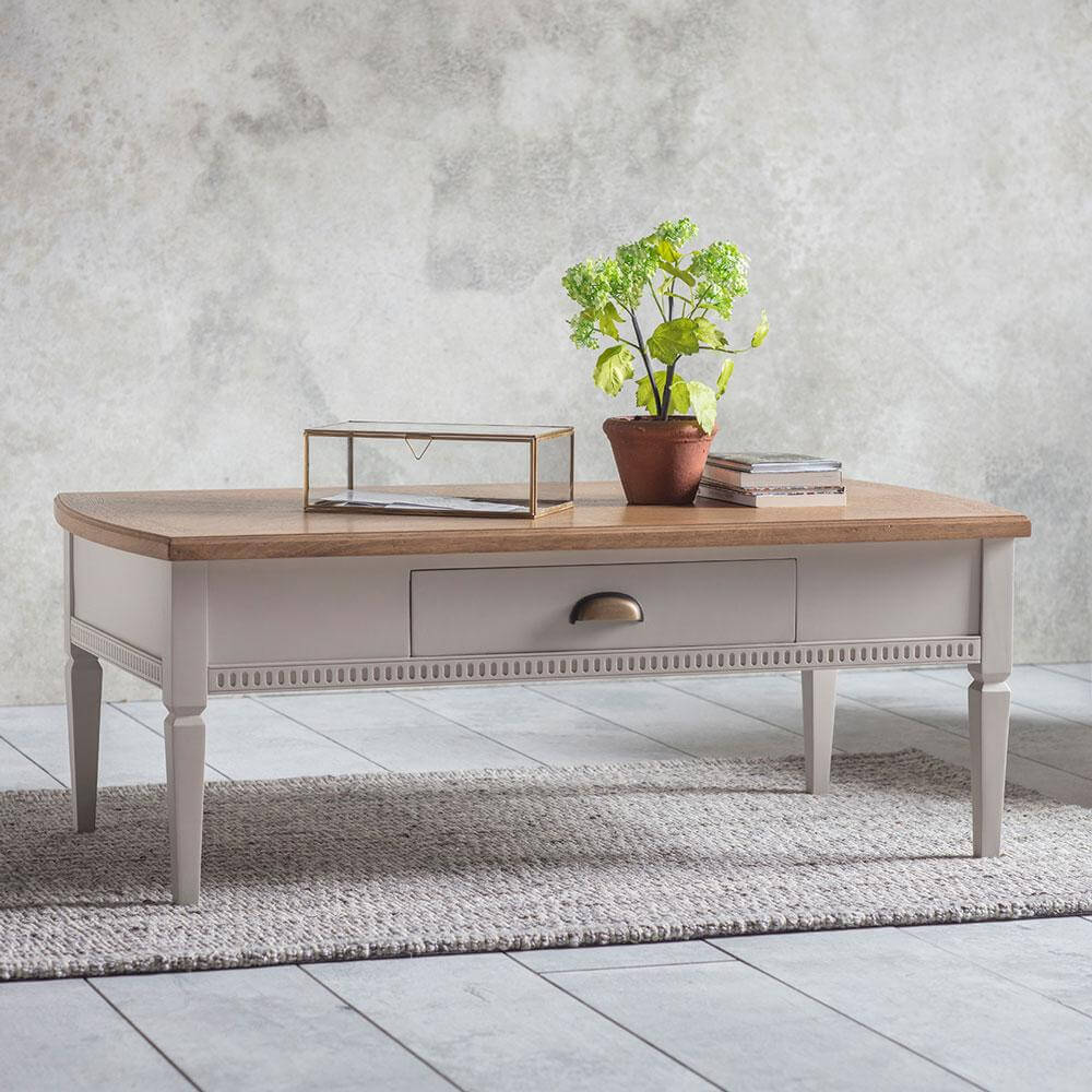 The Atlantic 1 drawer coffee table Neutral
