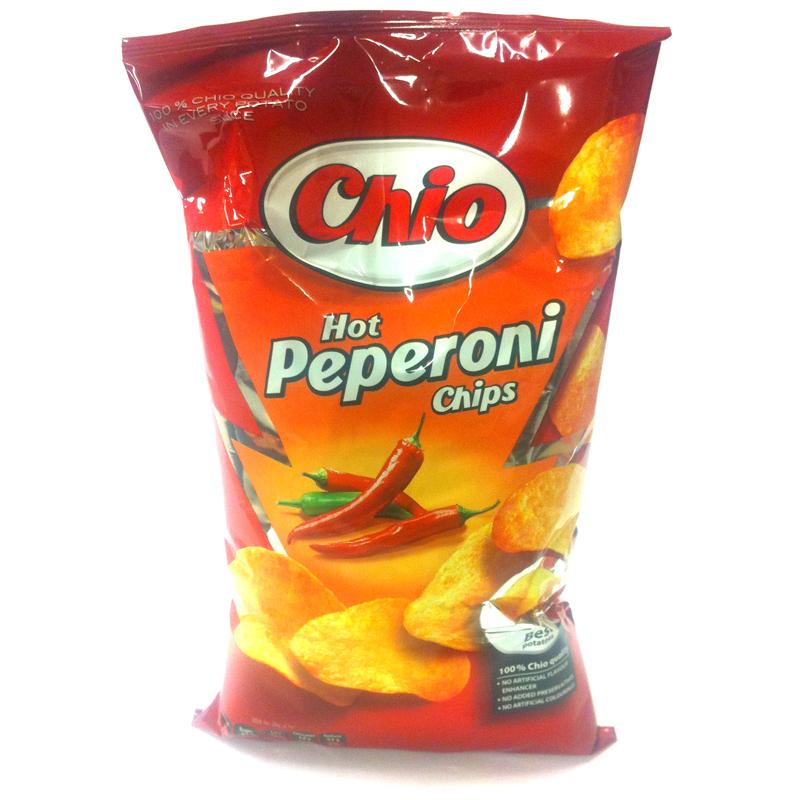 Chips , Chio Hot Peperoni 150g - 22% rabatt