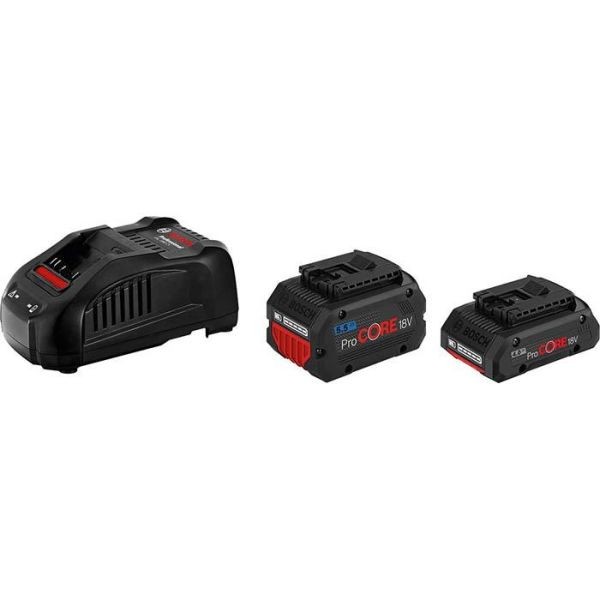 Bosch ProCORE 18V 1X4,0 AH / 1X5,5 AH Ladepakke 4,0 Ah + 5,5 Ah, med lader