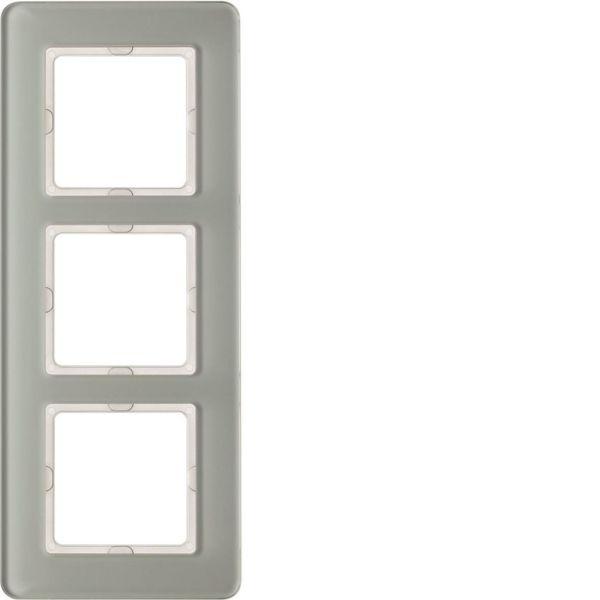 Hager 10136079 Peitekehys 3-paikkainen, Q.7, lasi valkoinen