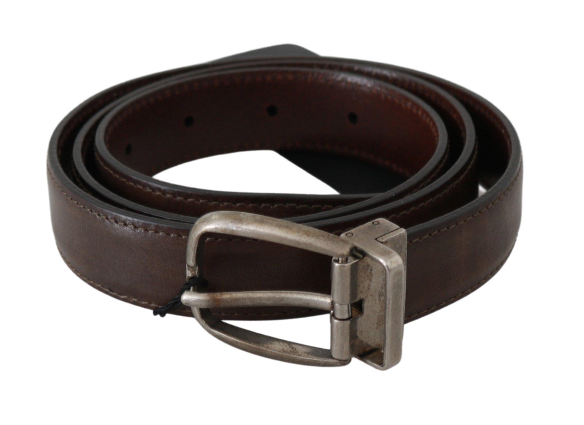 Dolce & Gabbana Men's Buckle Waist Men Leather Belt Brown BEL60544 - 95 cm / 38 Inches