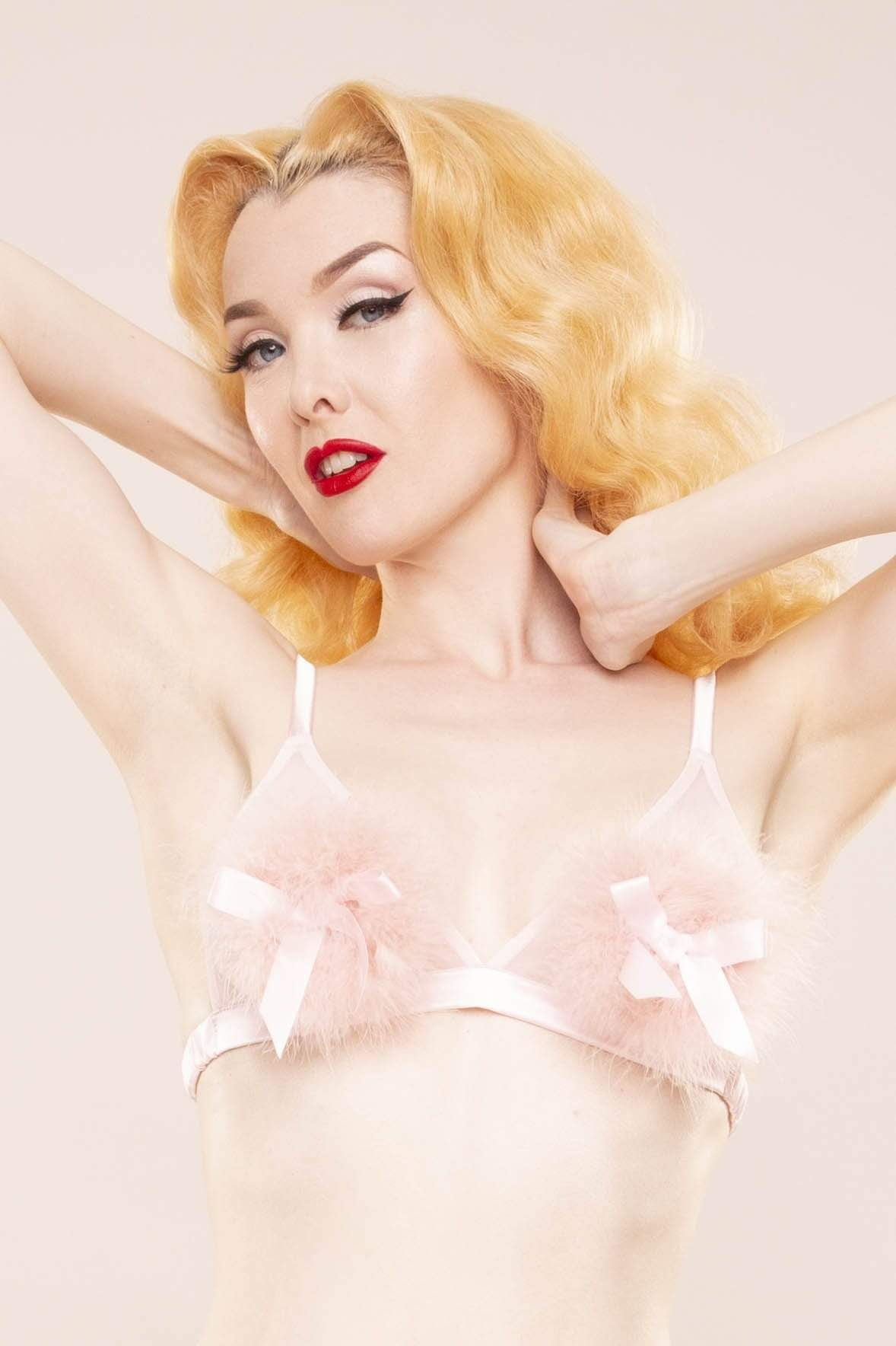 Bettie Page Powder Puff Triangle Pink UK 10 / US 6