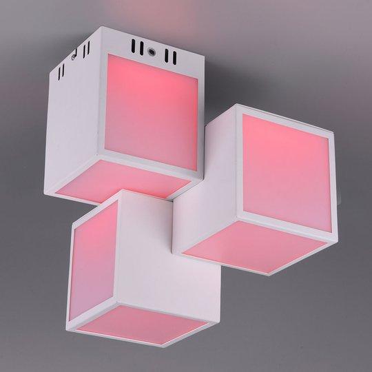Trio WiZ Oscar LED-taklampe 30x30cm, hvit