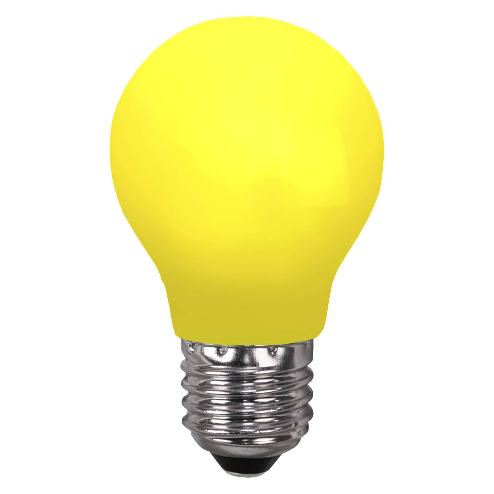 LED-lamppu E27 valoketjuihin, murtumaton keltainen