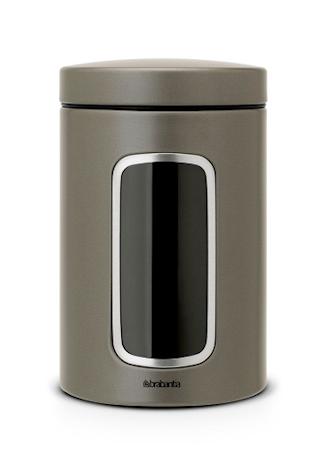 Oppbevaringsboks med vindu 1.4 Ltr Platinum