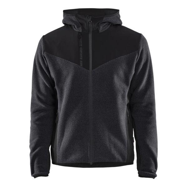 Blåkläder 594025369799L Jacka stickad, med softshell, gråmelerad/svart Stl XL