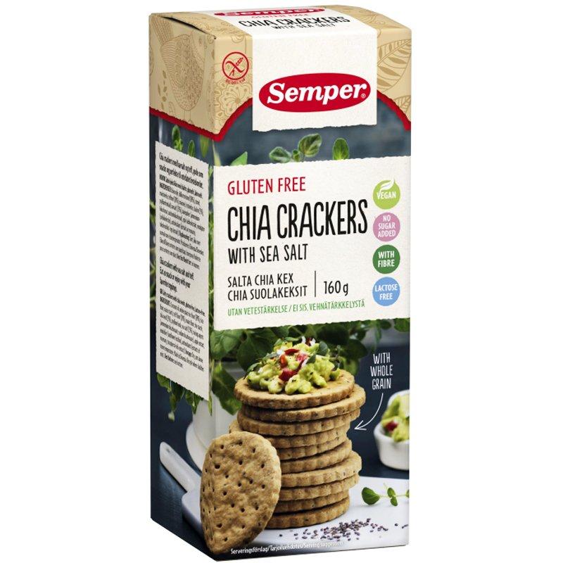 "Voileipäkeksi ""Chia Crackers"" 160g - 67% alennus"