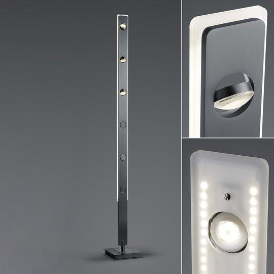 BANKAMP Caro LED-gulvlampe styrbar antrasitt