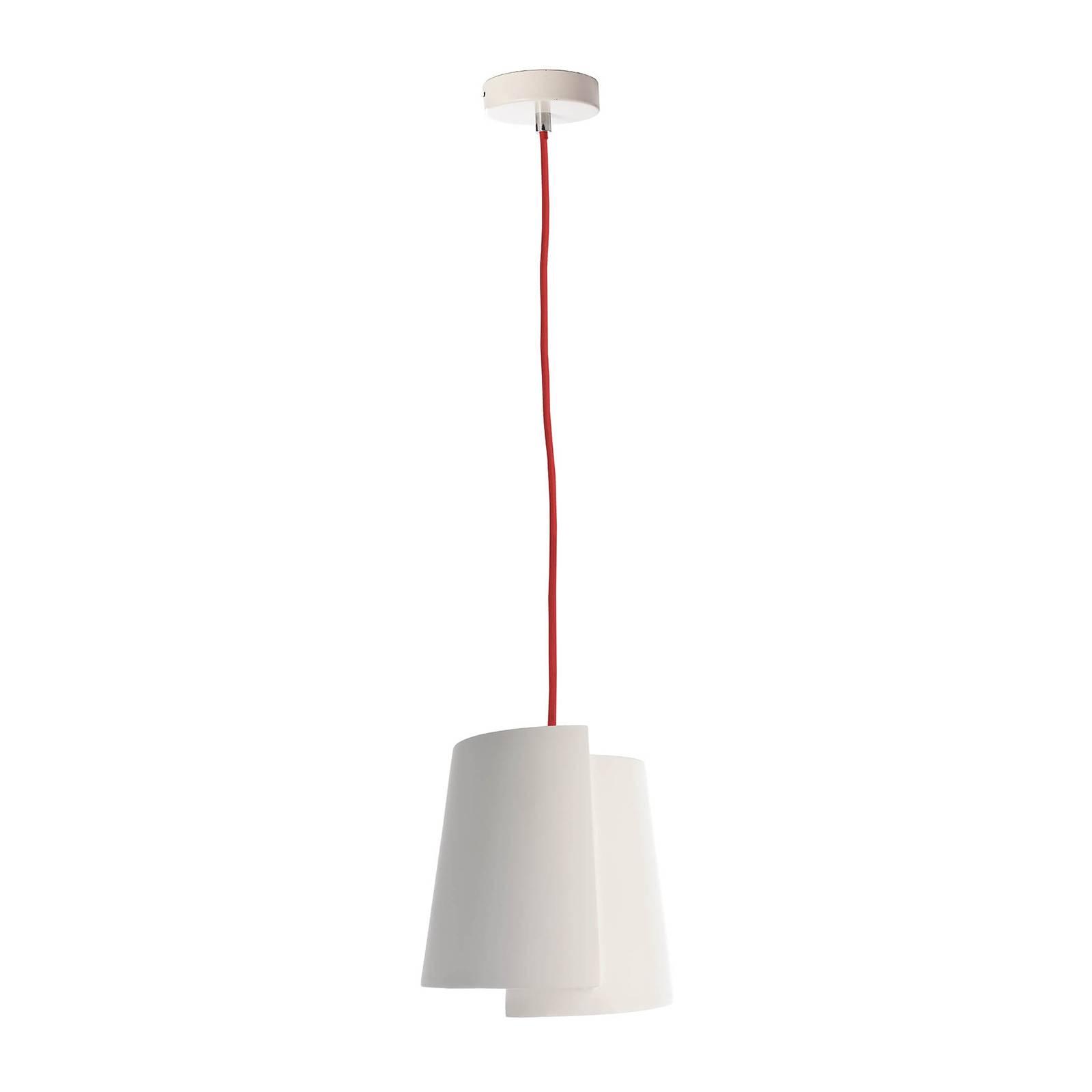 Riippuvalaisin Twister II, valkoinen, Ø 28 cm