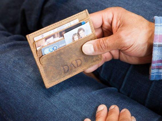 Credit Card Wallet Brown