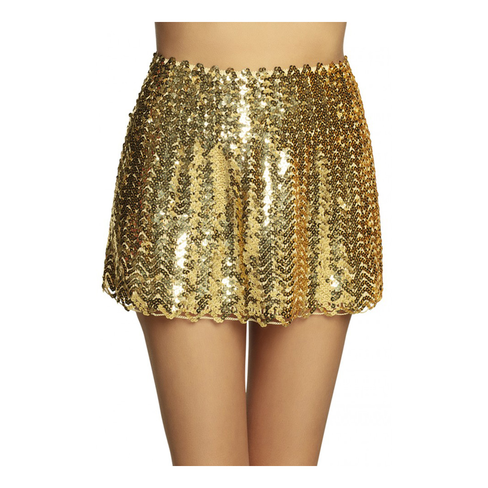 Kjol med Paljetter Guld - One size