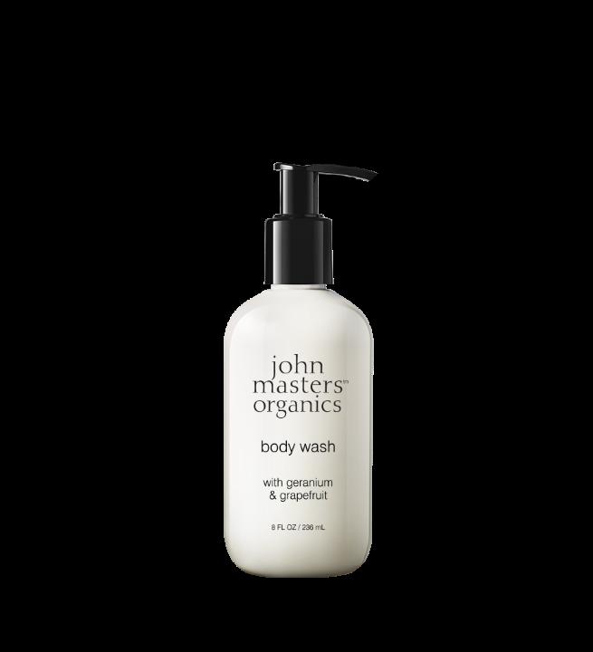 John Masters Organics - Body Wash w. Geranium & Grapefruit 236 ml