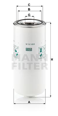 Öljynsuodatin MANN-FILTER W 13 145/3