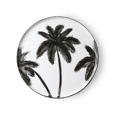 Bold & Basic Ceramics Porselen Tallerken Palms