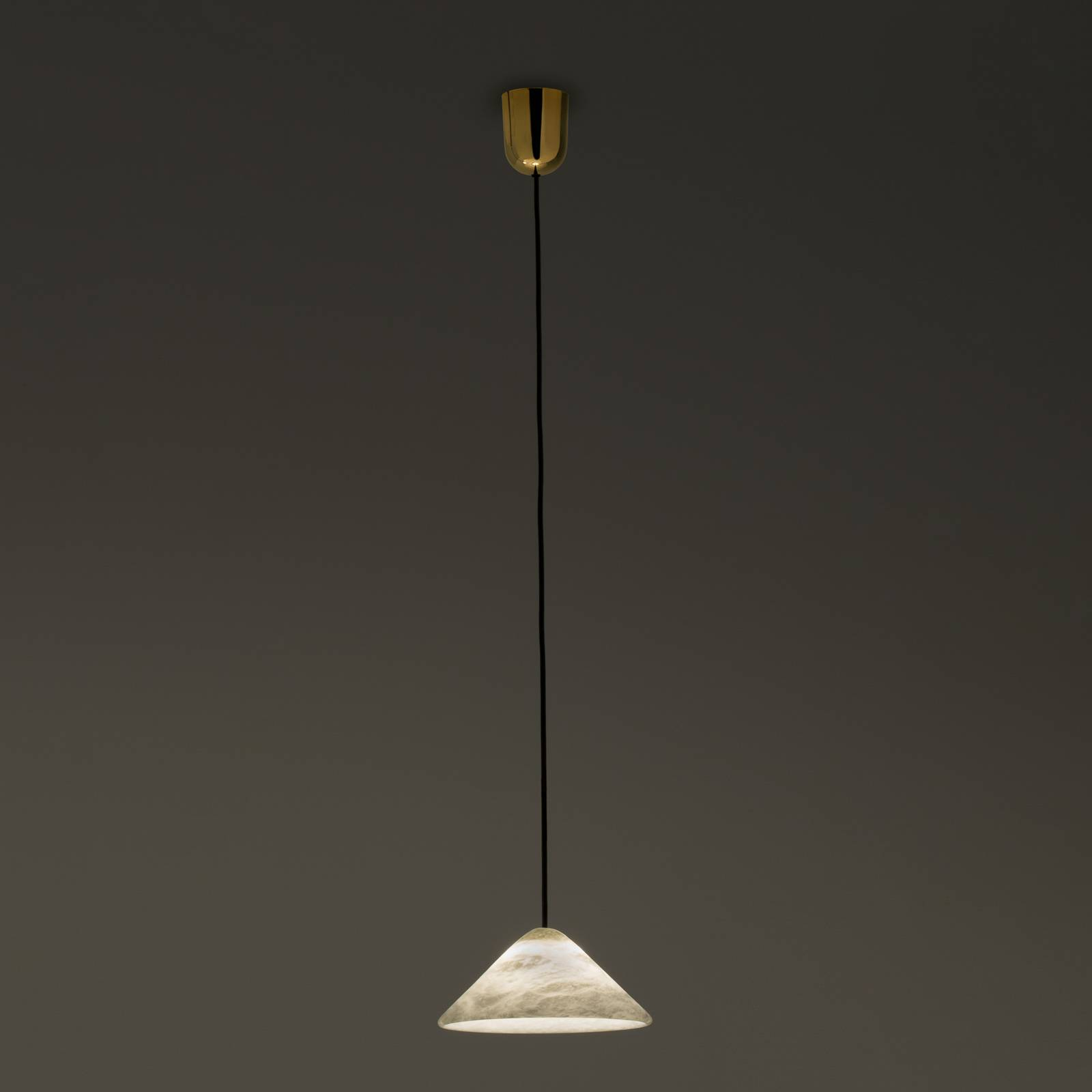 LED-riippuvalaisin Fuji alabasteria, Ø 21 cm