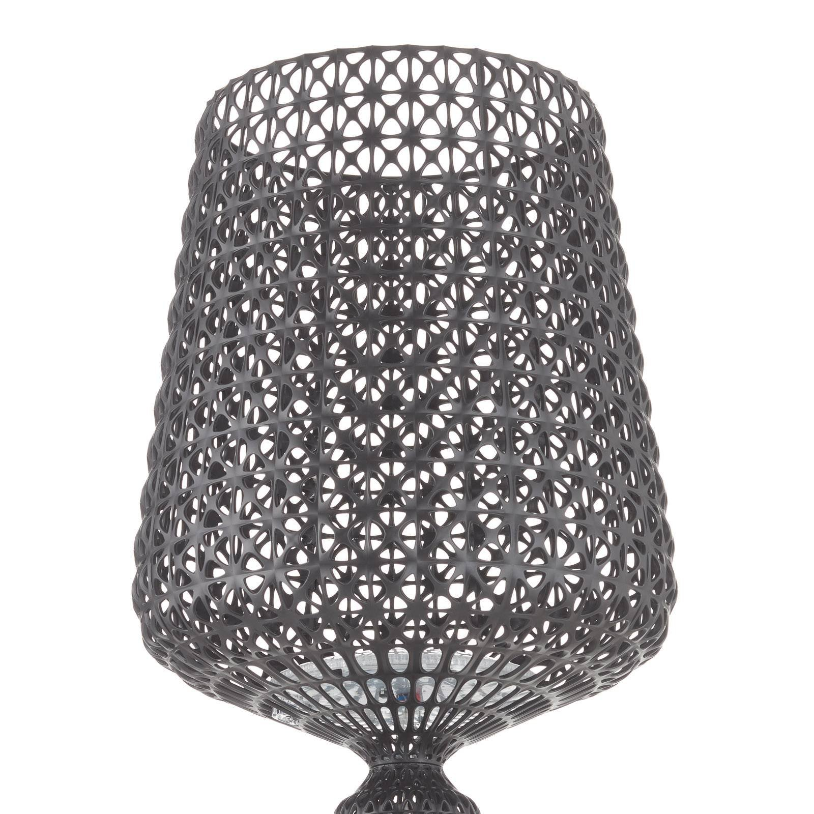 Designer-gulvlampe Kabuki med LED-lys, svart