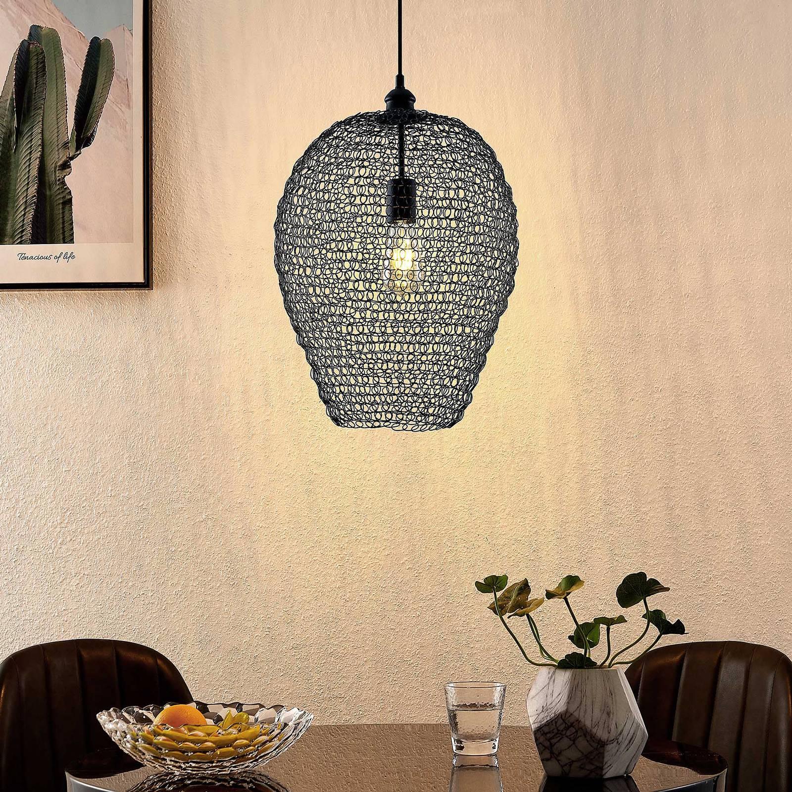 Lindby Benja -riippuvalaisin, 1-lamppuinen, musta
