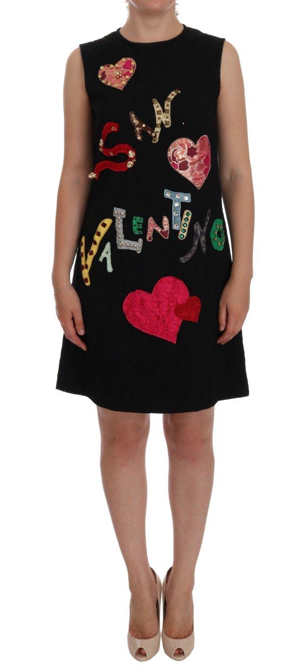Dolce & Gabbana Women's San Valentino Crystal Dress Multicolor DR1040 - IT36   XS