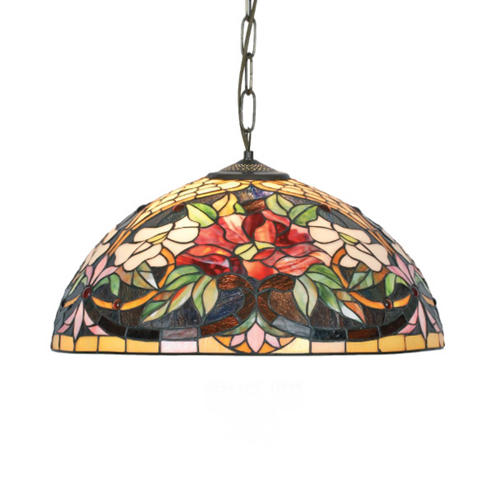 Tiffany-tyylinen Ariadne-riippuvalaisin, 1-lamp.