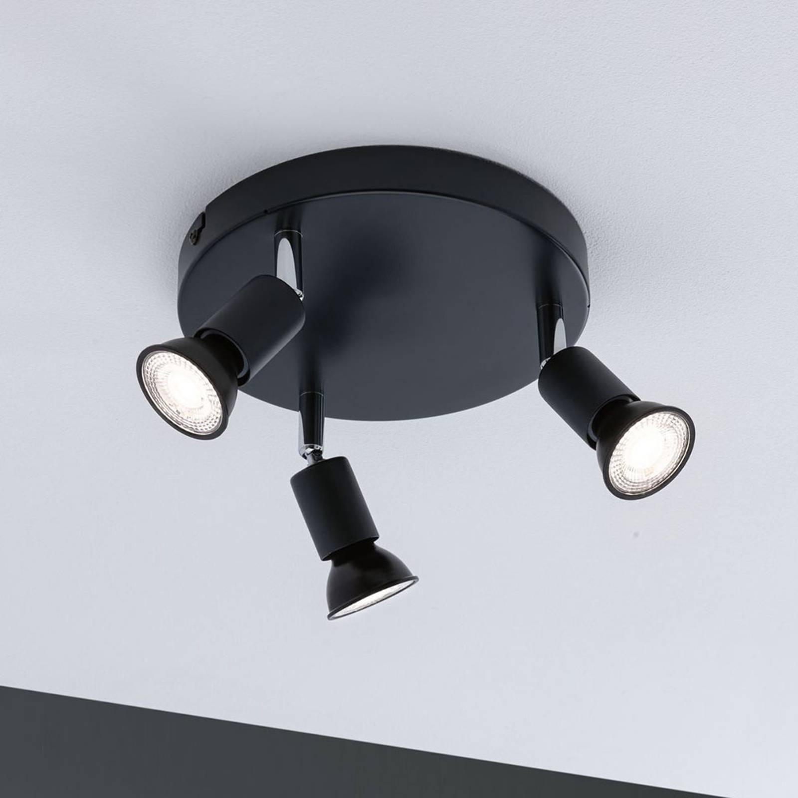 Paulmann Carolina-kattokohdevalo 3-lamppuinen IP44