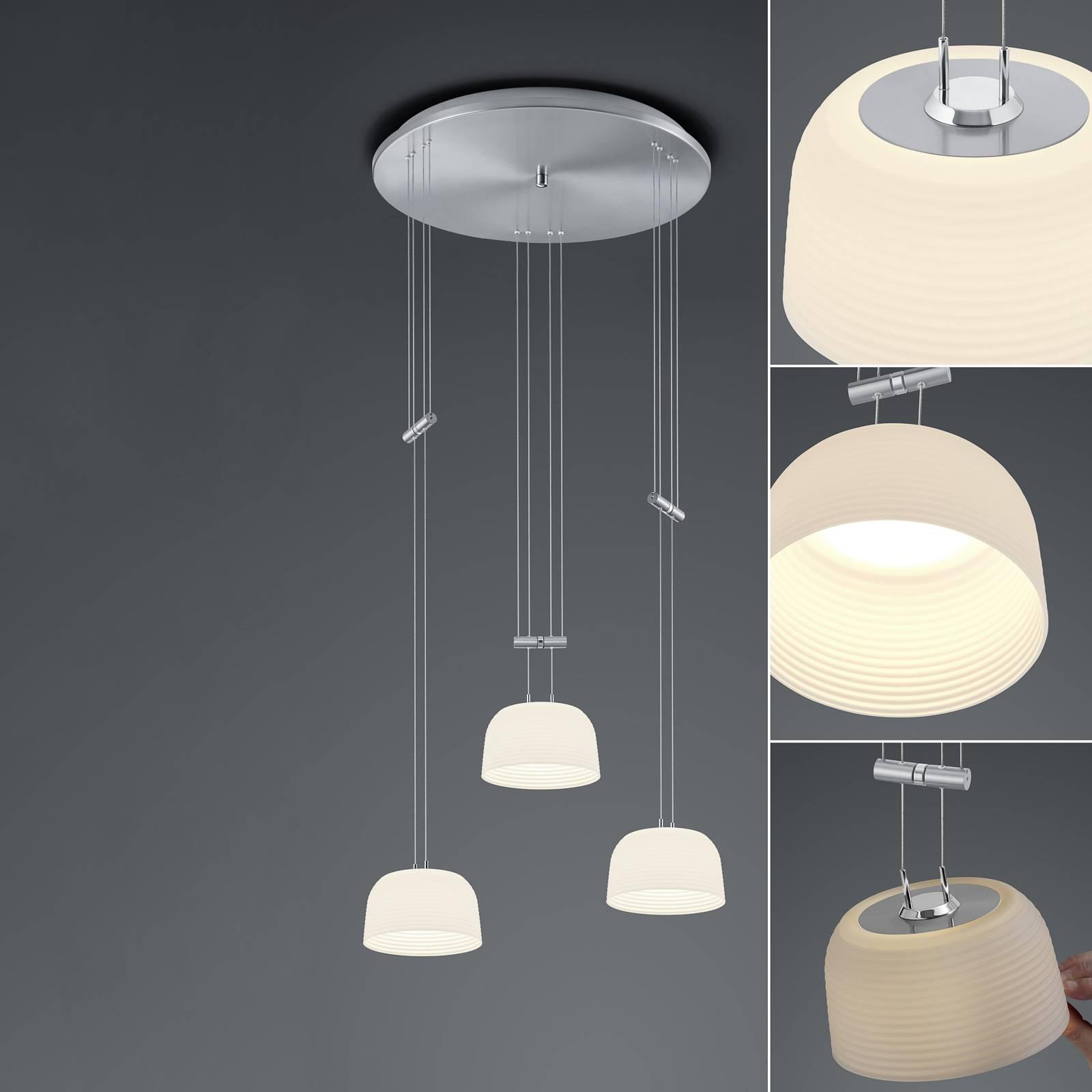 BANKAMP Nelia ZigBee 3-lamp. pyöreä nikkeli