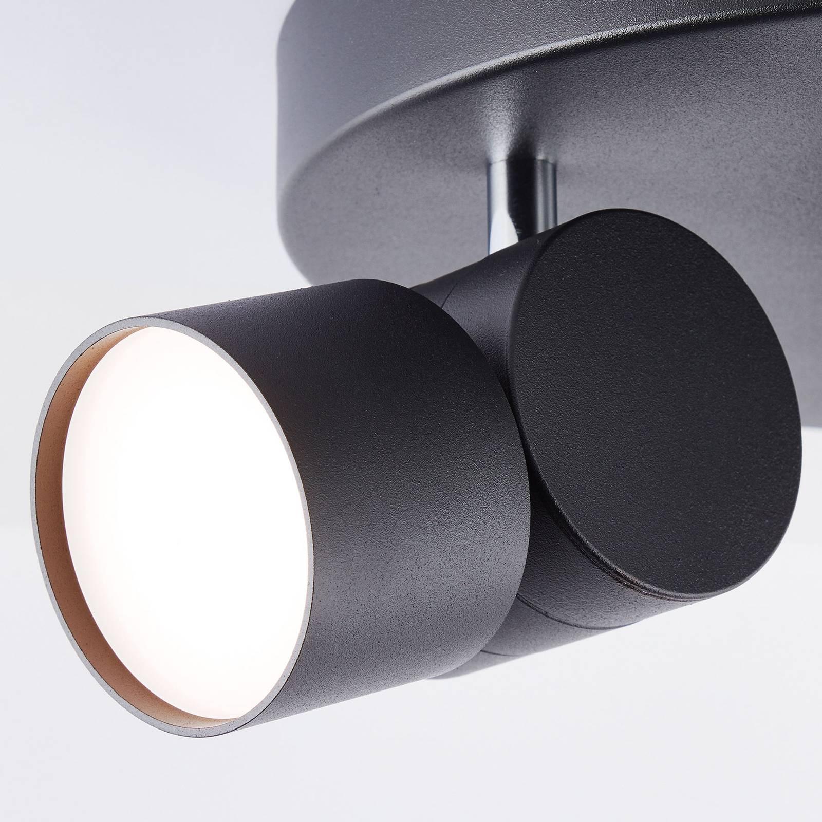 AEG Twine -LED-kattokohdevalo musta, 3-lamppuinen