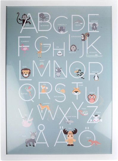 Form Living Bilde Alfabetet, Blå