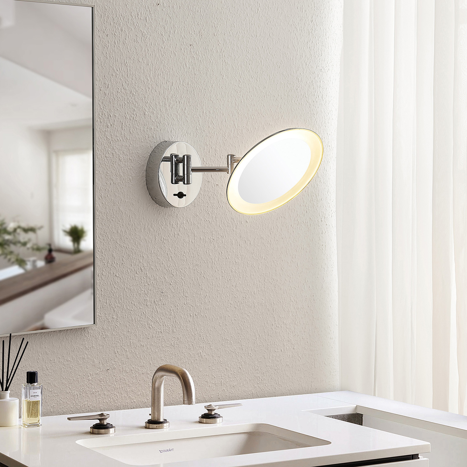 Lindby Fiana -meikkipeili LED-valolla