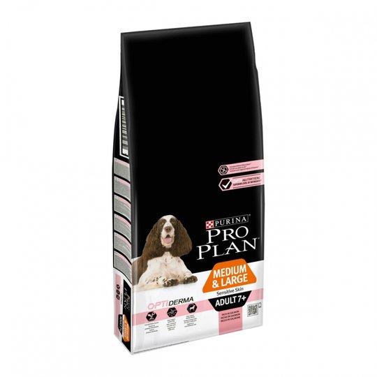 Purina Pro Plan® OptiDerma® Adult 7+ Medium & Large Sensitive Skin Salmon (14 kg)