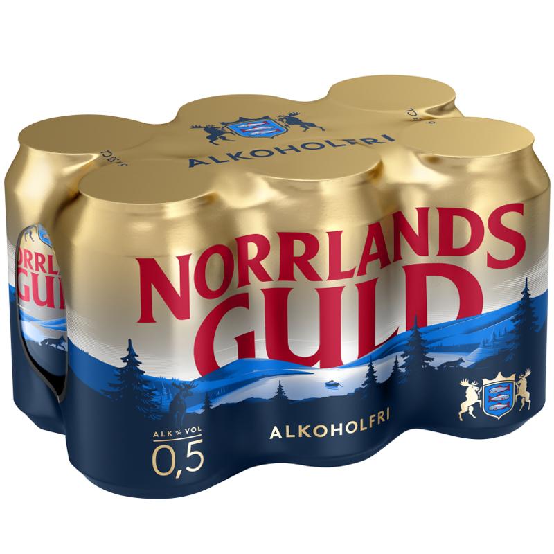 """Öl """"Norrlands Guld"""" 6 x 33cl - 27% rabatt"""