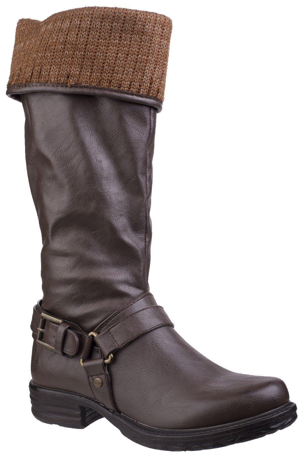 Divaz Women's Monroe Tall Boot Black 25568-42556 - Brown 3