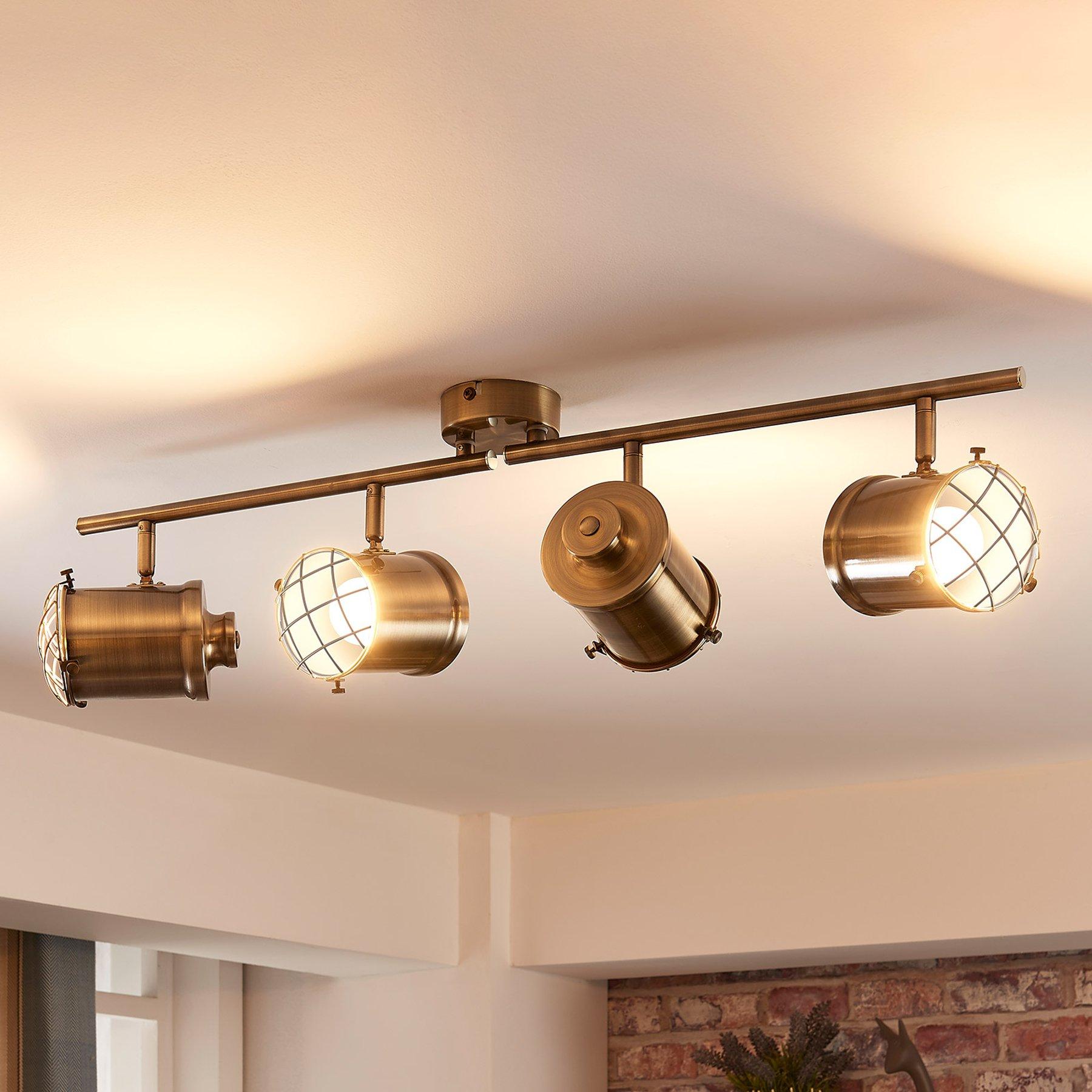 LED-taklampe Ebbi med 4 LED-lys, easydim