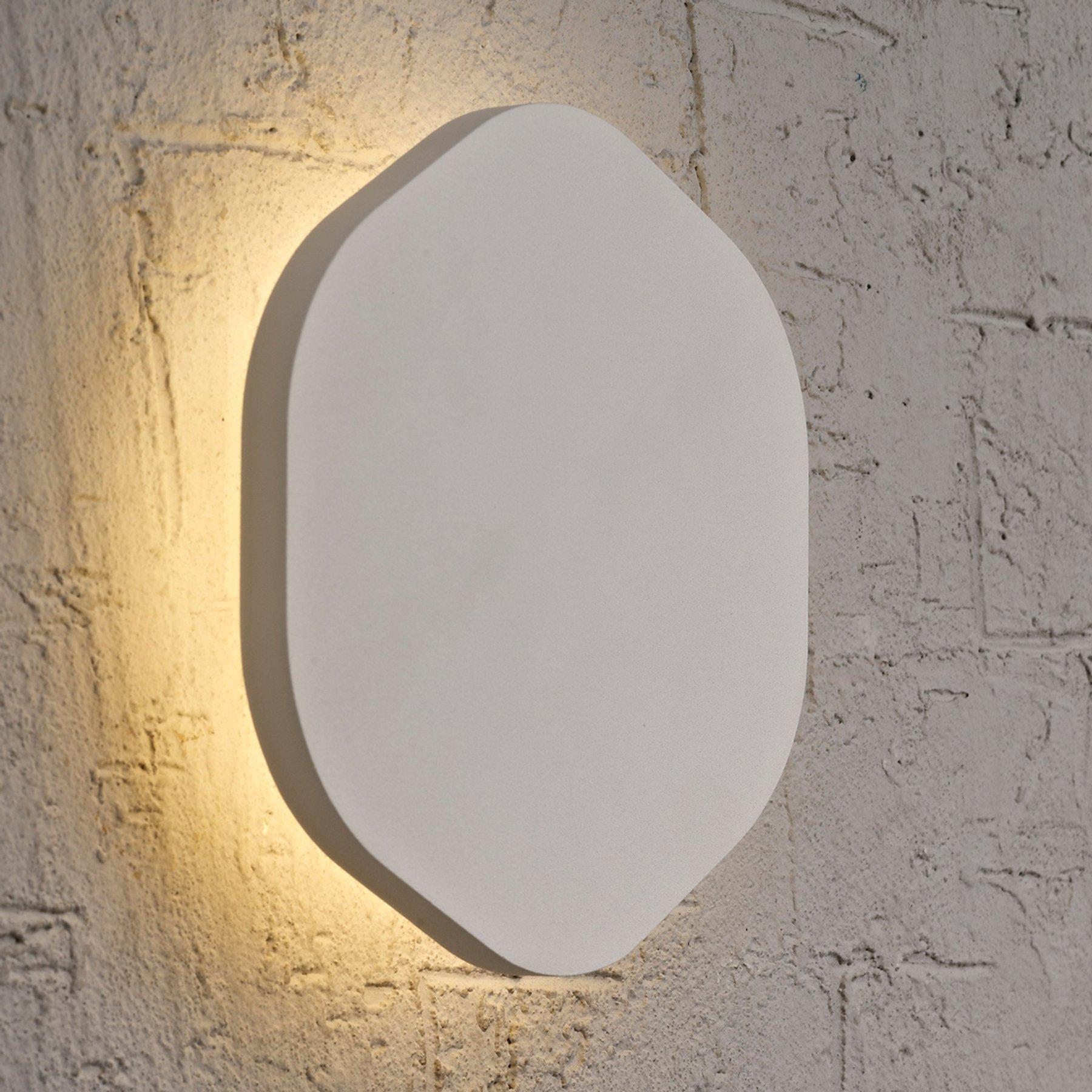 Sølvfarget LED-vegglampe Bora Bora