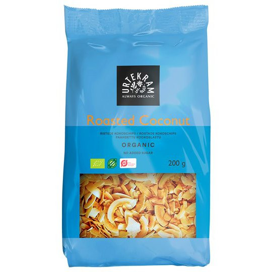 Urtekram Food Ekologiska Kokoschips Rostade, 200 g