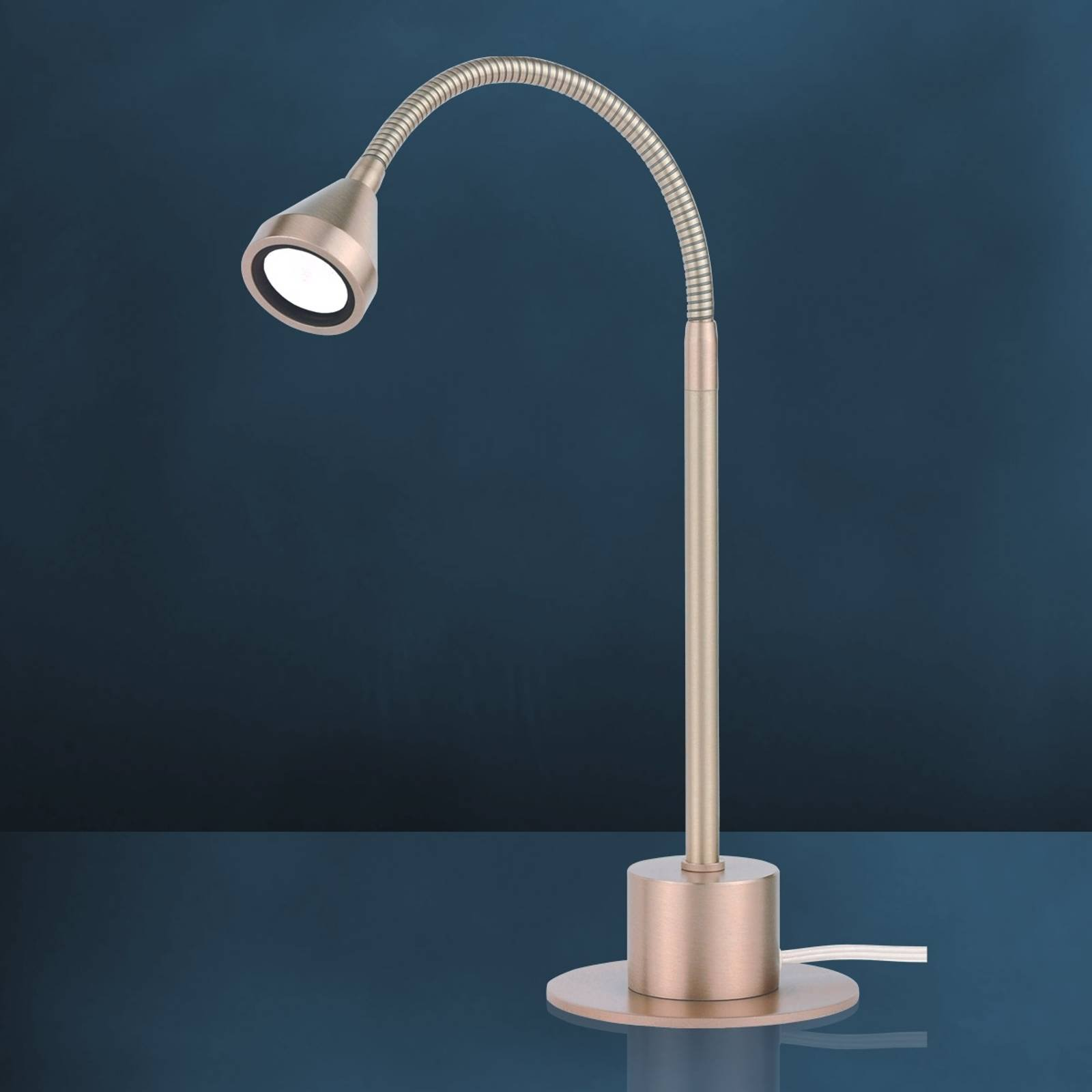 MINI LED-bordlampe m. fleks. arm og univ.hvitt lys