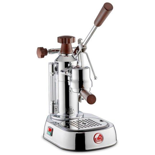 La Pavoni Europiccola Lusso Espressomaskin 0,8 liter Rostfritt stål med trähandtag LPLELH01EU